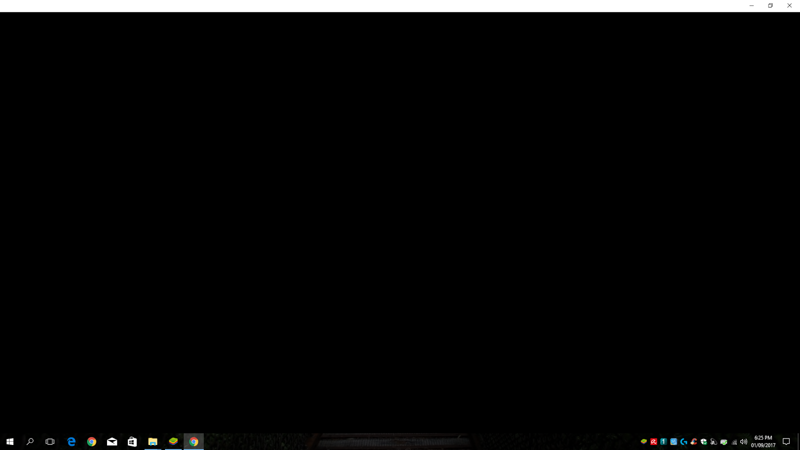 Black screen when opening back Chrome from task bar (minimized