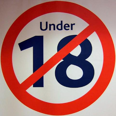 under 18 sign