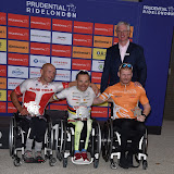 OIC - ENTSIMAGES.COM - Elite Hand Cyclist winners place Mr Walker Ablinger, Mr Rafal Wilk and Mr Kim Christiansen at the Prudential RideLondon Grand Prix 2016    in London  29th July 2016 Photo Mobis Photos/OIC 0203 174 1069