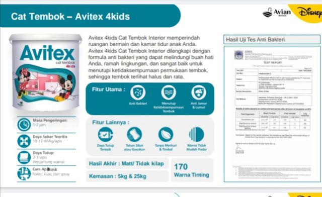 Cat tembok Avitex 4Kids