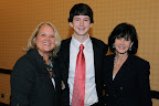 Cheryl Reynolds, National Philanthropy Day Luncheon Chair; Matthew Willis, Outstanding Youth in Philanthropy; Margaret Willis
