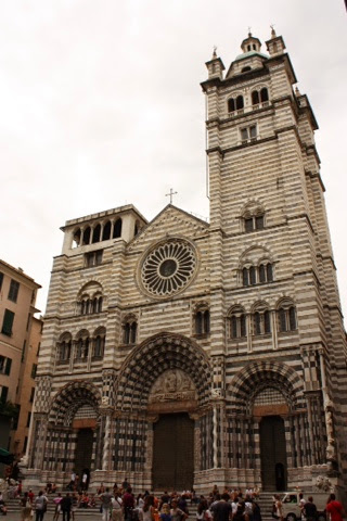 San Lorenzo Cathedral in Genoa, Italy