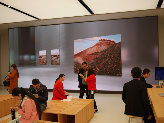 large Ultra HD Screen at the SM Lifestyle Center Apple Store in Xiamen, China