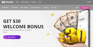 Forex No Deposit Bonus MTrading $30