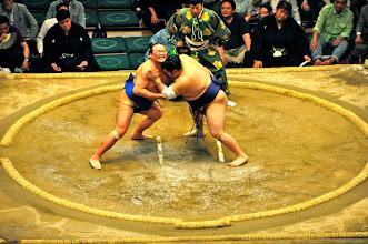 Photo: Tachiai - the match begins.