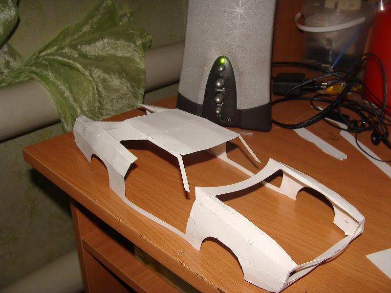 Бумажная модель Dodge charger