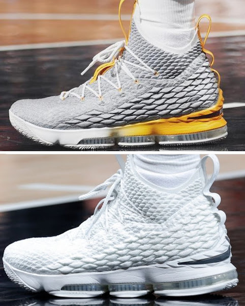 James Plays Four Quarters in Pure White LeBron 15 PE With Outriggers