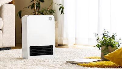 セラミックファンヒーターSOLEIL、人感センサーの電気暖房器具