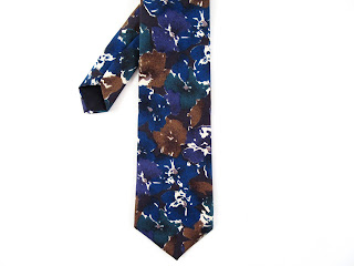 Christian Dior Jeune Homme Silk Tie with Watercolors