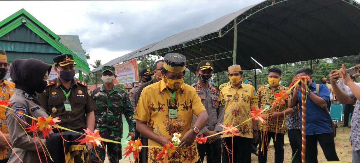 Bupati Soppeng Bersama Forkopimda Launching 'Balla Ewako Sitiroang Deceng', di Wilayah Polsek Ganra
