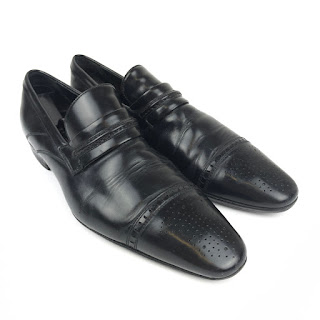 D&G Dolce & Gabbana Black Leather Loafers