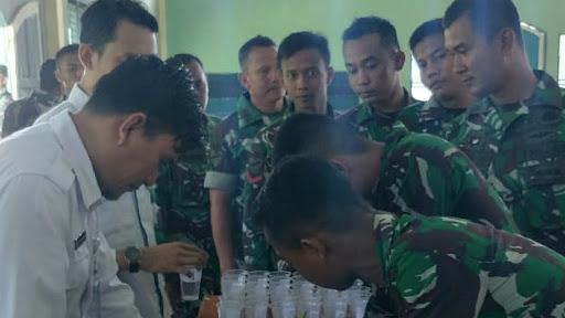 Yon Armed 13/2/1 Gelar Penyuluhan Pemberantasan Penyalahgunaan Narkoba Bersama BNN Kabupaten Sukabumi