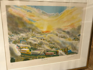 "Robert Cenedella ""Day Break"" Lithograph"