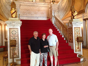 Tom and Ina Abraham and Bob Frank. Standing in the Westmoreland County (PA) courthouse rotunda