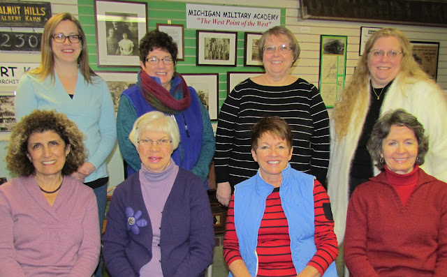 2015 board members, back L to R: Newsletter Editor Hannah Dagg, Corresponding Secretary Carol Fink, Membership Chair DuAnne Sonneville, Volunteer Coordinator Diane Eanes; front L to R: Vice President Antia Pinson, Historian Helen Jane Peters, Treasurer Sue Williams, President Gina Gregory.