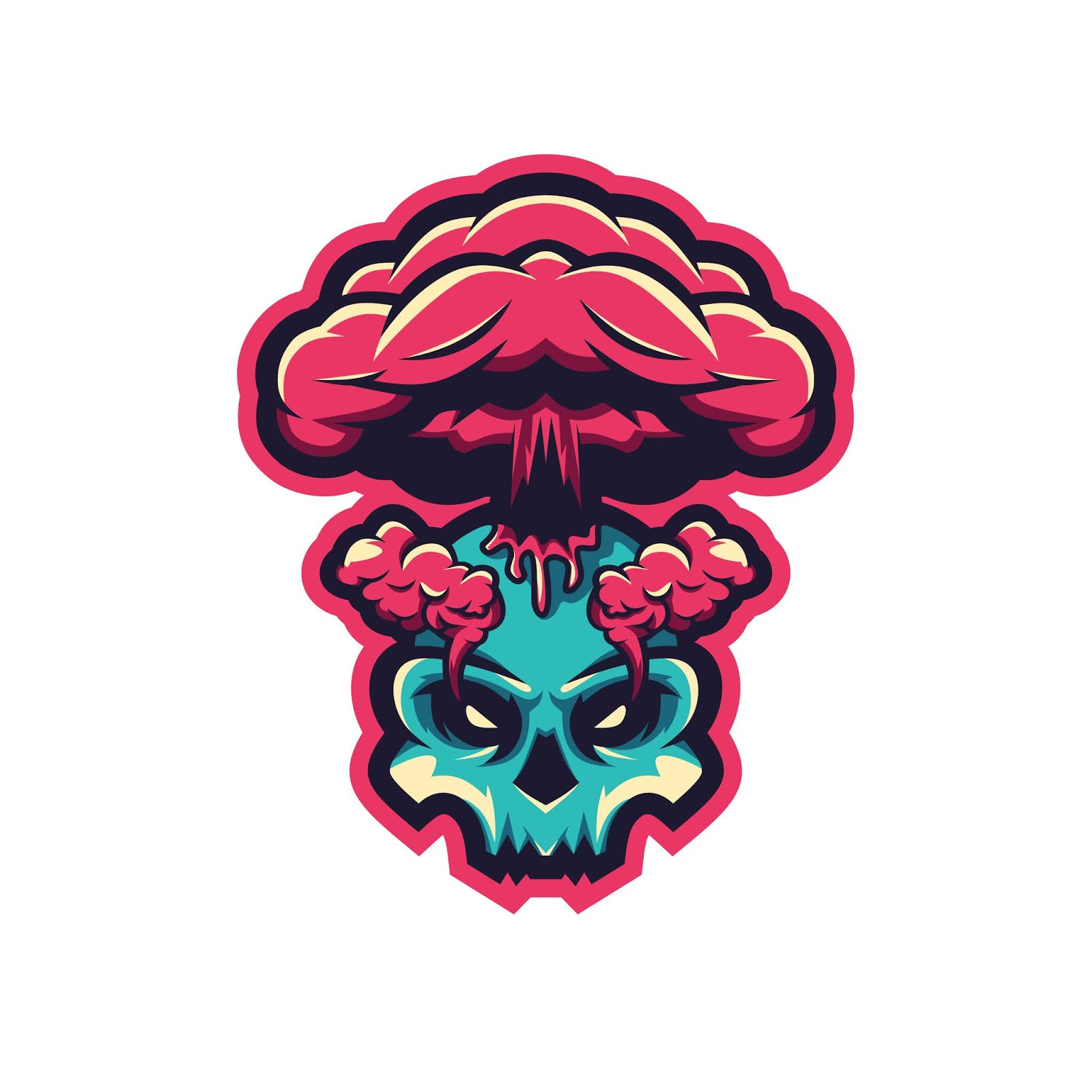 Skull Volcanos Illustration Premium Free Download Vector CDR, AI, EPS and PNG Formats