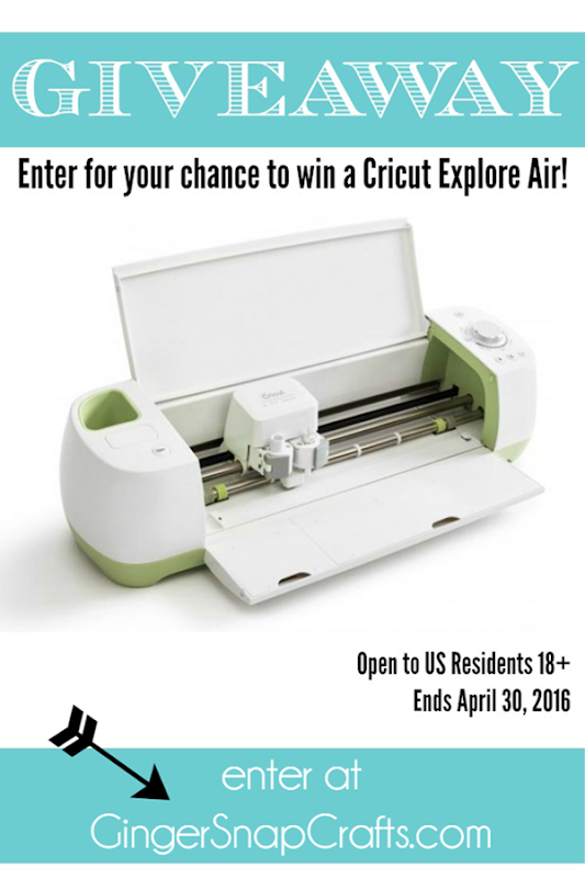 Ginger Snap Crafts: Cricut Explore Air **Giveaway**