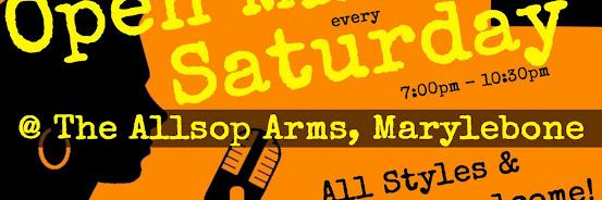 UK Open Mic @ Allsop Arms in Marylebone / Baker Street / Regent's Park on 2020-02-08