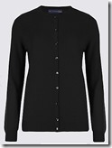 Pure Cashmere button through round neck classic cardigan