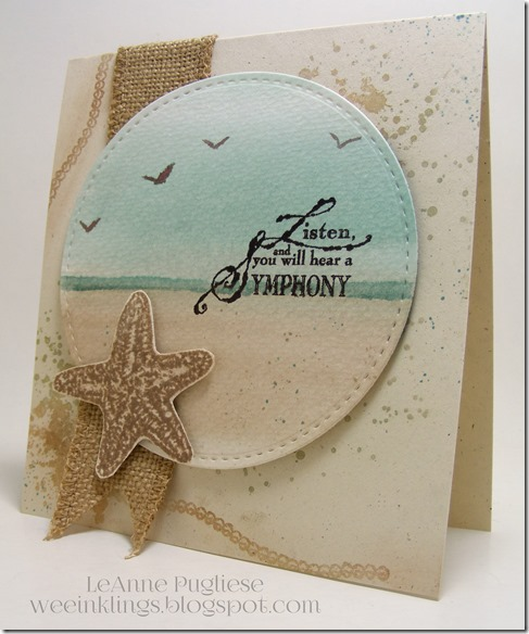 LeAnne Pugliese WeeInklings Paper Players 258 CAS Beach Impression Obsession Stampin Up
