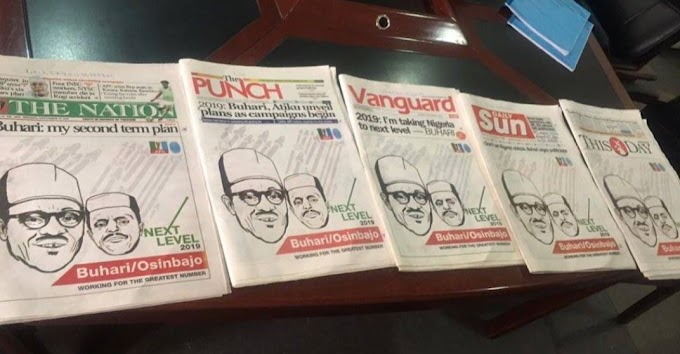 Buhari Hijacks Front-page Of 5 National Newspapers To Flag Off Campaign