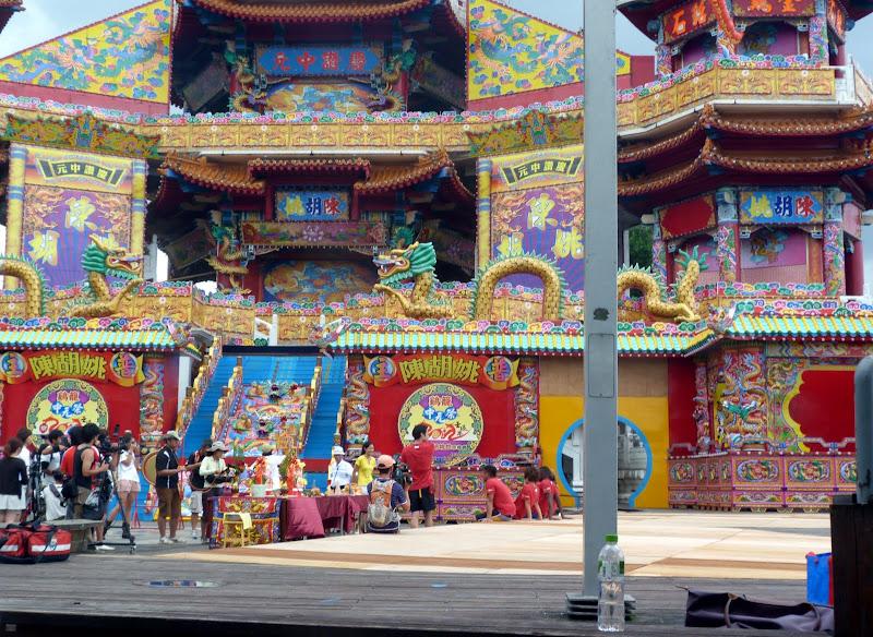Tournage d une émission TV. Zhupu Altar ( Zhupu Tan ) En jaune, Janet de TLC...