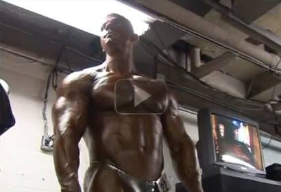 Bodybuilder Zoltan Voros Pump Room