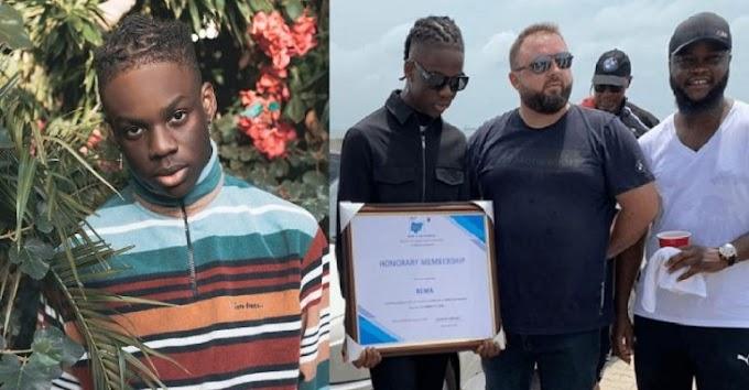"BMW awards Rema honorary membership for his single, ""Beamer"""