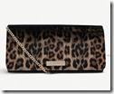 Carvela Leopard Print Patent Clutch Bag