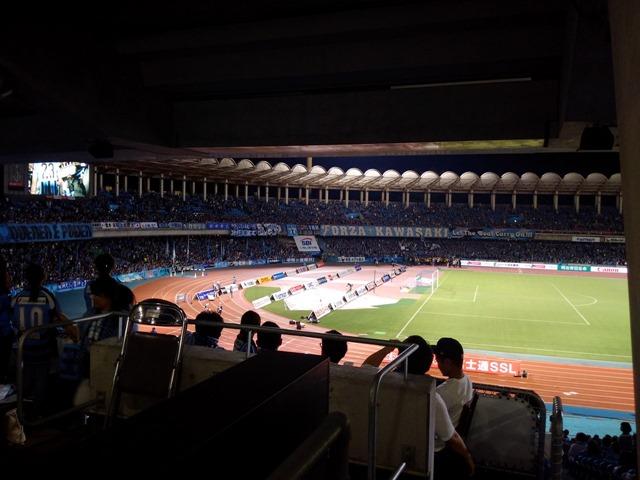 川崎フロンターレ等々力陸上競技場感想眺め