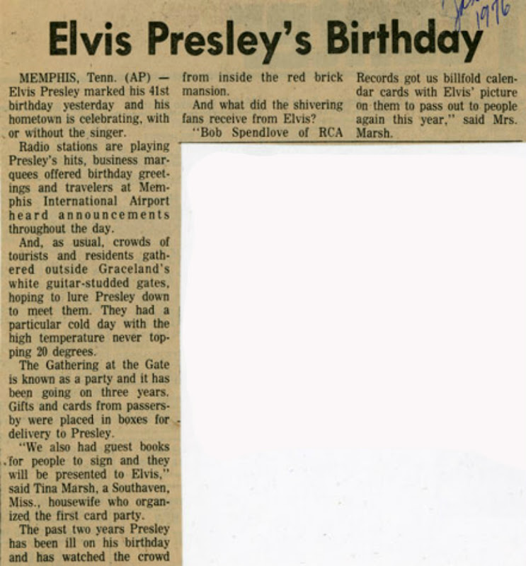 Image result for Elvis Presley January 9, 1976