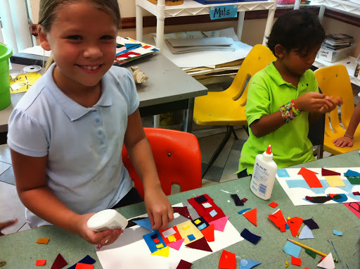 Kids creating art about Venice. From Exposing children to the arts - An Open Letter to Fine Art Museum Directors