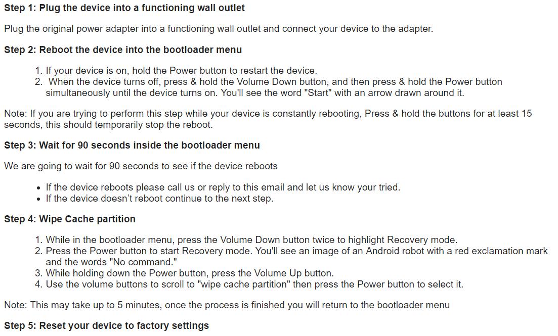 Bootloop after 7 1 1 update - build number NDE63N - Pixel