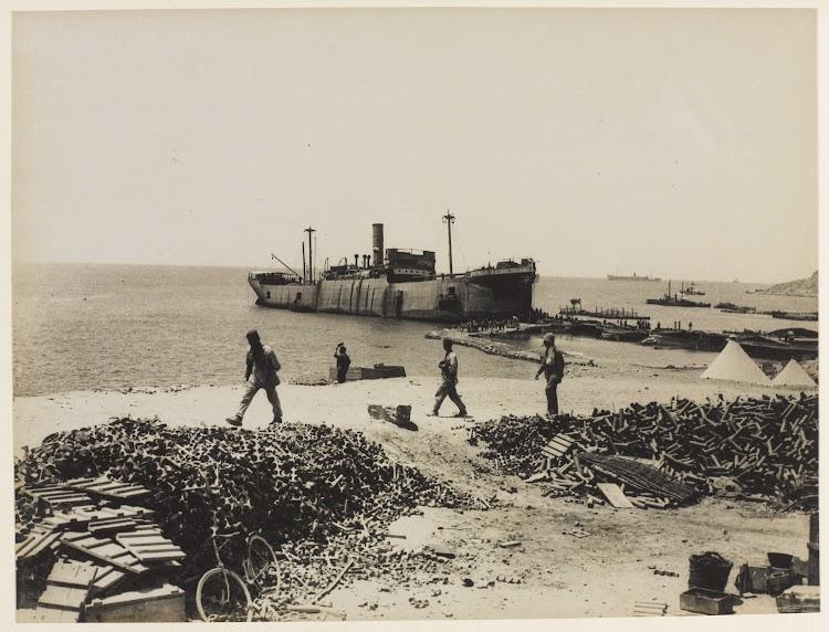 El RIVER CLYDE en primera linea en el frente de Gallipoli. De la web Nam.ac.uk.jpg