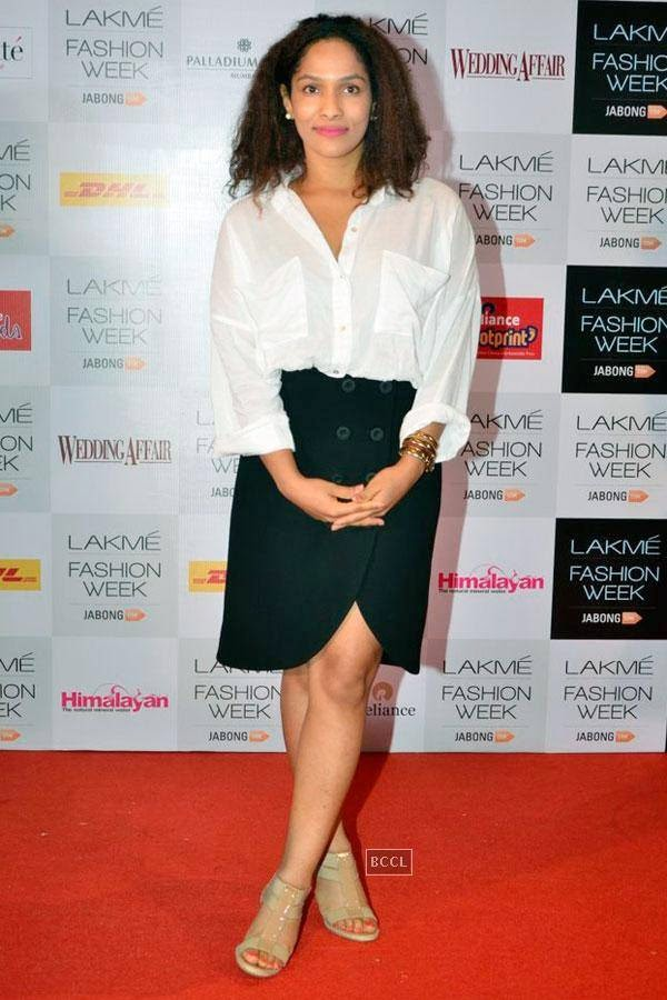 Fashion designer Masaba Gupta during Lakme Fashion Week curtain-raiser, held in Mumbai, on July 28, 2014. (Pic: Viral Bhayani)