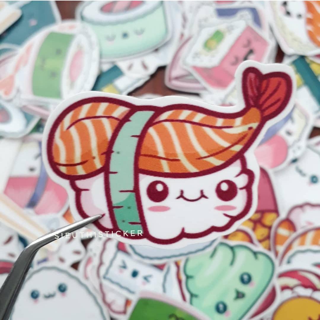 sticker cục sushi dễ thương