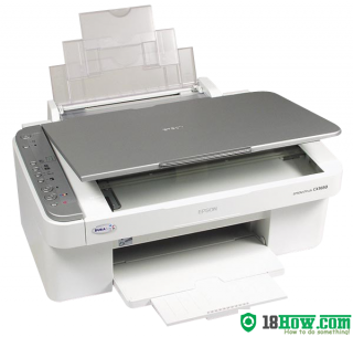 How to reset flashing lights for Epson CX3650 printer