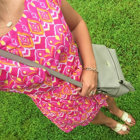 nella boutique, colorful dress, preppy style, kate spade