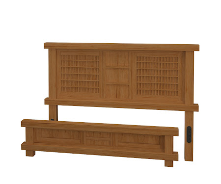 Tansu Platform Bed in Calhoun Maple