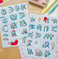 sticker giấy hatsune miku