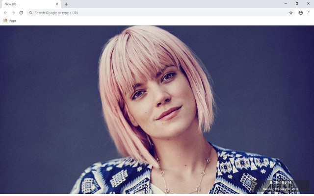 Lily Allen New Tab & Wallpapers Collection