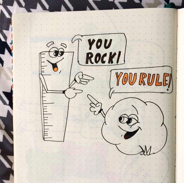 #100DaysOfDoodles | Day 35 | You Rock, You Rule | The 100 Day Project 2017