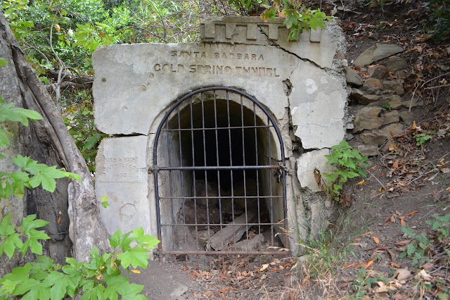 locked gate entry to the Cold Spring Tunnel, completed 1905