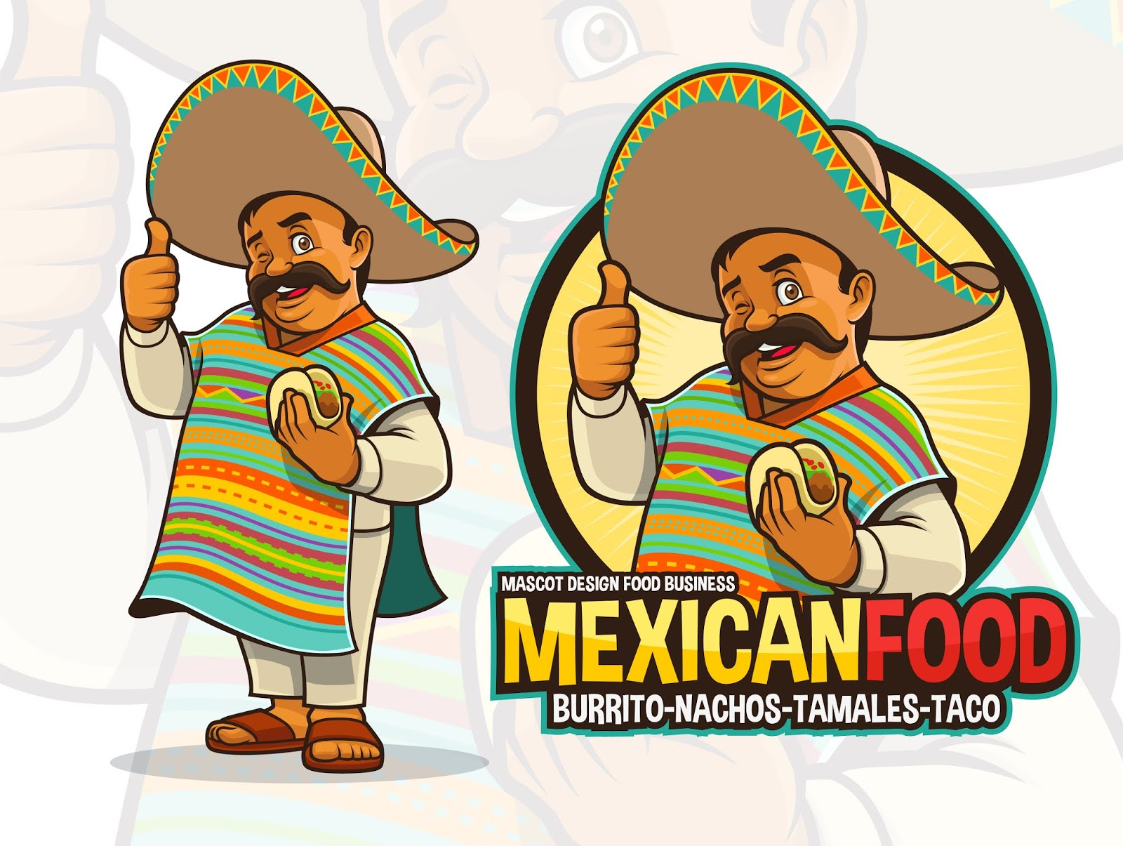 Mexican Mascot Taco Restaurant Free Download Vector CDR, AI, EPS and PNG Formats