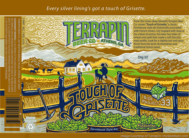 Terrapin Side Project 33 Will be Touch Of Grisette 16oz Cans