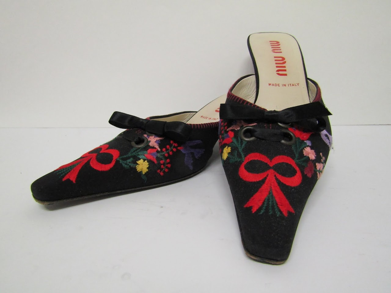 Miu Miu Embroidered Mules