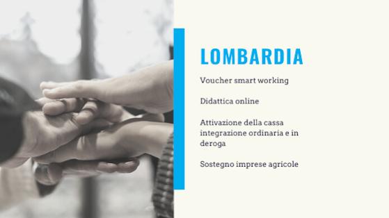 Aiuti coronavirus Lombardia