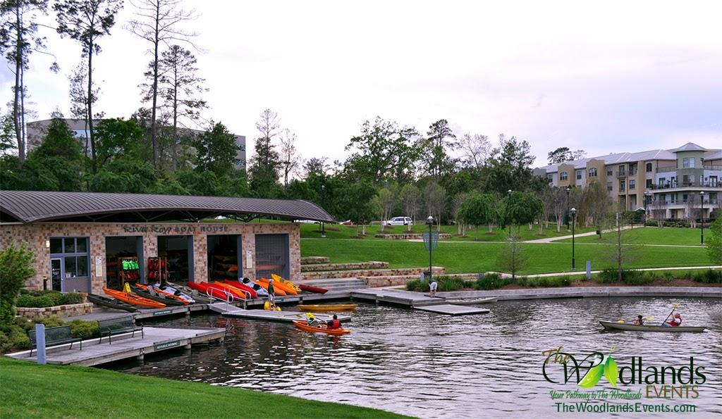 Riva Row Boathouse Woodlands Waterway
