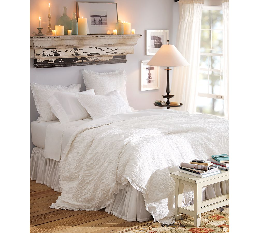 All White Bedrooms: Cool Home Creations: The Look For Less: Canopy Bed