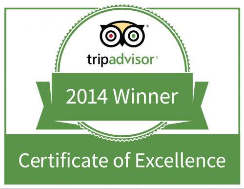 [AWARDS] We are pleased to announce that all our Hotels have been awarded a 2014 Certificate of Excellence from the travel review site +TripAdvisor